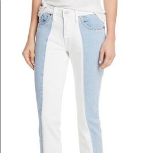 Levi's 501 Spliced Crop Tapered Jeans